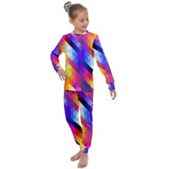 Abstract Background Colorful Pattern Kids  Long Sleeve Set  by Sapixe