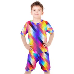 Abstract Background Colorful Pattern Kids  Tee And Shorts Set by Sapixe