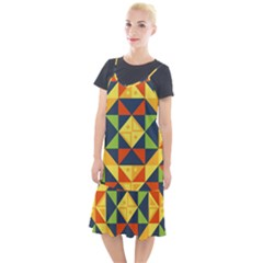 Background Geometric Color Camis Fishtail Dress