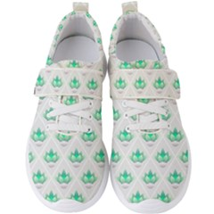 Plant Pattern Green Leaf Flora Men s Velcro Strap Shoes by Sapixe