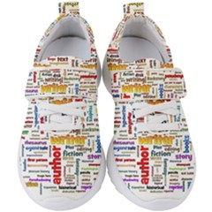 Writing Author Motivation Words Kids  Velcro Strap Shoes by Sapixe