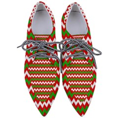 Christmas Paper Scrapbooking Pattern Pointed Oxford Shoes