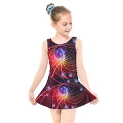 Physics Quantum Physics Particles Kids  Skater Dress Swimsuit by Sapixe