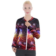 Physics Quantum Physics Particles Casual Zip Up Jacket