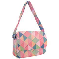 Background Geometric Triangle Courier Bag by Sapixe