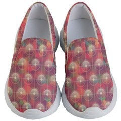 Colorful Background Abstract Kids  Lightweight Slip Ons by Sapixe
