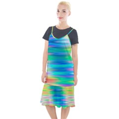Wave Rainbow Bright Texture Camis Fishtail Dress