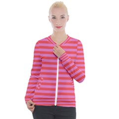 Stripes Striped Design Pattern Casual Zip Up Jacket