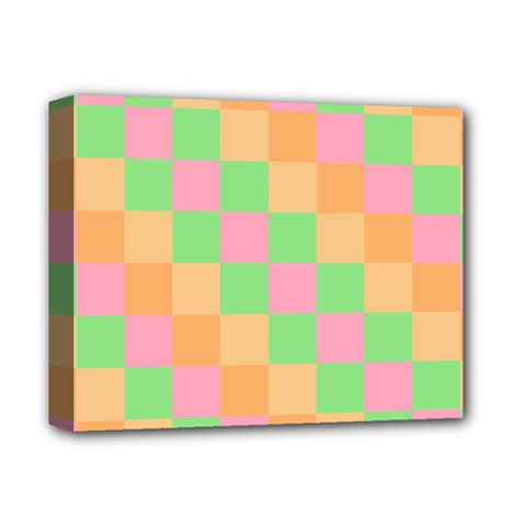 Checkerboard Pastel Squares Deluxe Canvas 14  X 11  (stretched) by Sapixe