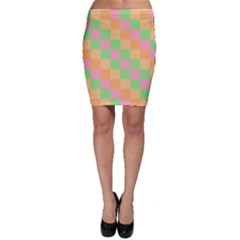 Checkerboard Pastel Squares Bodycon Skirt by Sapixe