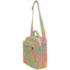 Checkerboard Pastel Squares Crossbody Day Bag