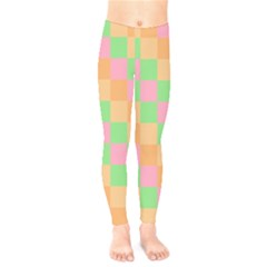 Checkerboard Pastel Squares Kids  Legging