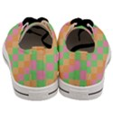 Checkerboard Pastel Squares Men s Low Top Canvas Sneakers View4