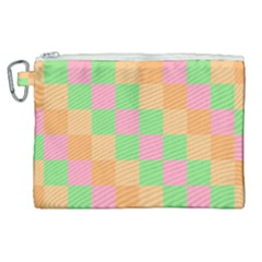 Checkerboard Pastel Squares Canvas Cosmetic Bag (xl) by Sapixe