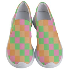 Checkerboard Pastel Squares Women s Lightweight Slip Ons