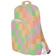 Checkerboard Pastel Squares Double Compartment Backpack