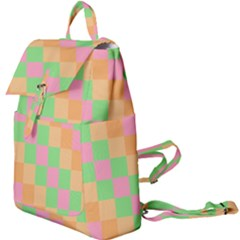 Checkerboard Pastel Squares Buckle Everyday Backpack