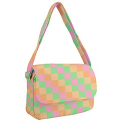 Checkerboard Pastel Squares Courier Bag