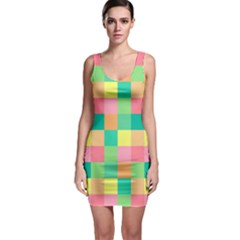 Checkerboard Pastel Squares Bodycon Dress by Sapixe