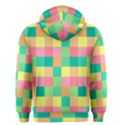 Checkerboard Pastel Squares Men s Zipper Hoodie View2