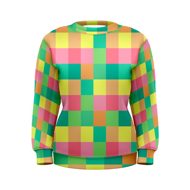 Checkerboard Pastel Squares Women s Sweatshirt