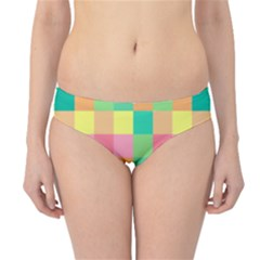 Checkerboard Pastel Squares Hipster Bikini Bottoms by Sapixe