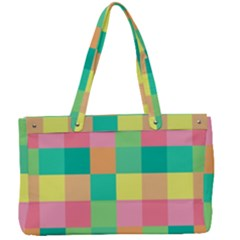 Checkerboard Pastel Squares Canvas Work Bag by Sapixe