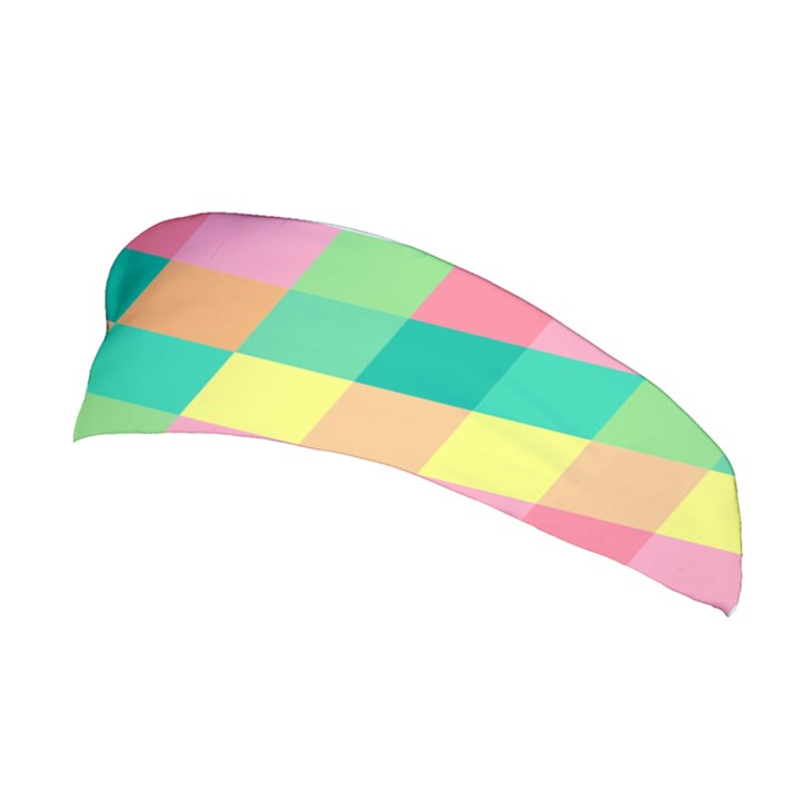 Checkerboard Pastel Squares Stretchable Headband