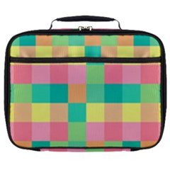 Checkerboard Pastel Squares Full Print Lunch Bag
