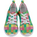 Checkerboard Pastel Squares Women s Lightweight Sports Shoes View1