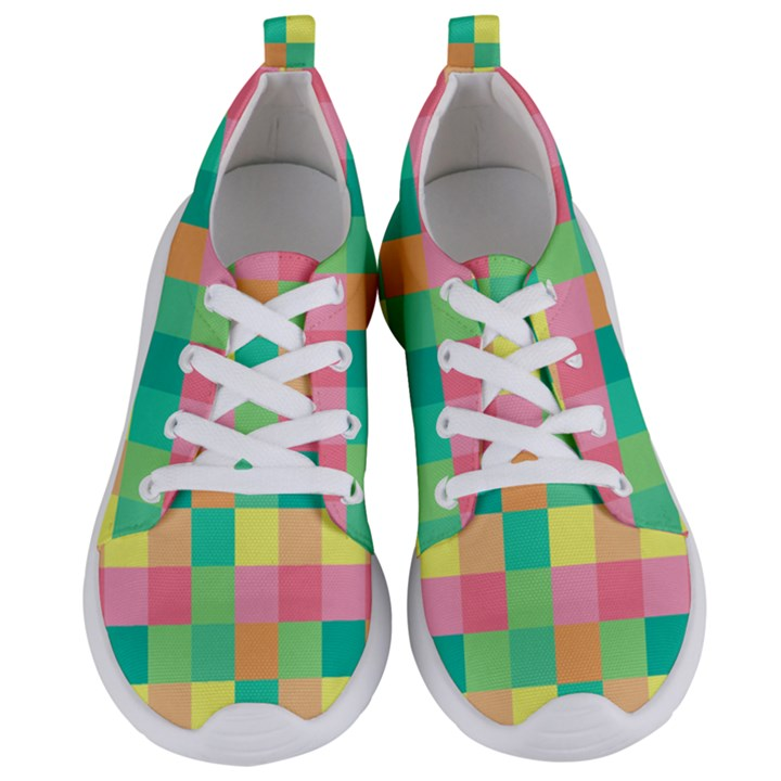 Checkerboard Pastel Squares Women s Lightweight Sports Shoes