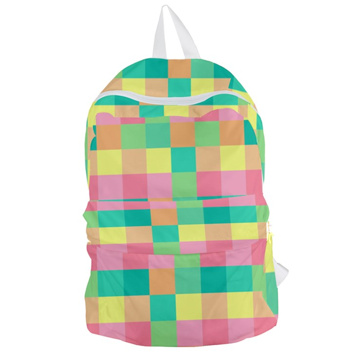 Checkerboard Pastel Squares Foldable Lightweight Backpack