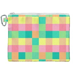 Checkerboard Pastel Squares Canvas Cosmetic Bag (xxl) by Sapixe