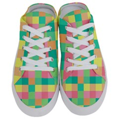 Checkerboard Pastel Squares Half Slippers by Sapixe