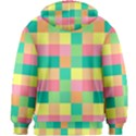 Checkerboard Pastel Squares Kids  Zipper Hoodie Without Drawstring View2
