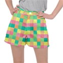 Checkerboard Pastel Squares Ripstop Shorts View1