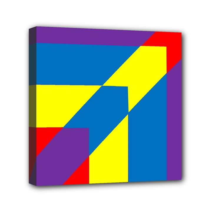 Colorful Red Yellow Blue Purple Mini Canvas 6  x 6  (Stretched)
