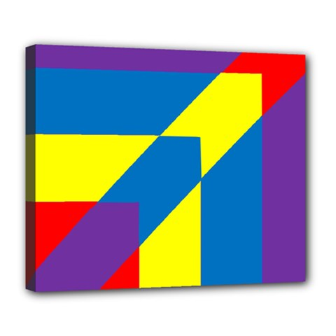 Colorful Red Yellow Blue Purple Deluxe Canvas 24  X 20  (stretched)