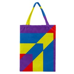 Colorful Red Yellow Blue Purple Classic Tote Bag