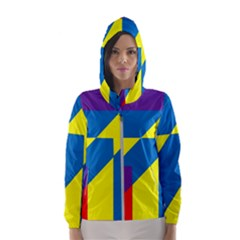 Colorful Red Yellow Blue Purple Women s Hooded Windbreaker by Sapixe