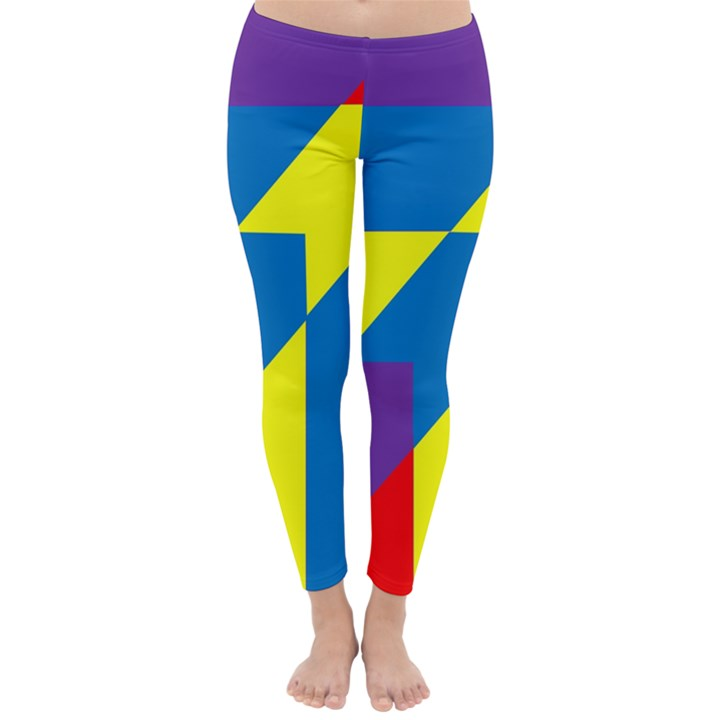 Colorful Red Yellow Blue Purple Classic Winter Leggings