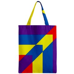 Colorful Red Yellow Blue Purple Zipper Classic Tote Bag by Sapixe