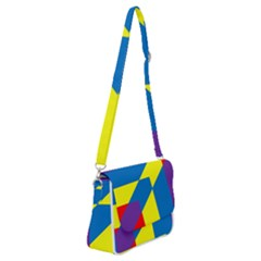 Colorful Red Yellow Blue Purple Shoulder Bag With Back Zipper by Sapixe