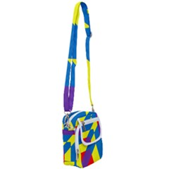 Colorful Red Yellow Blue Purple Shoulder Strap Belt Bag by Sapixe