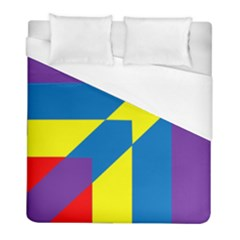 Colorful Red Yellow Blue Purple Duvet Cover (full/ Double Size)
