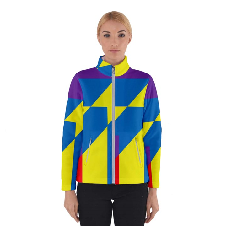 Colorful Red Yellow Blue Purple Winter Jacket