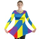 Colorful Red Yellow Blue Purple Long Sleeve Tunic  View1