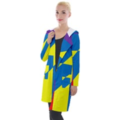 Colorful Red Yellow Blue Purple Hooded Pocket Cardigan