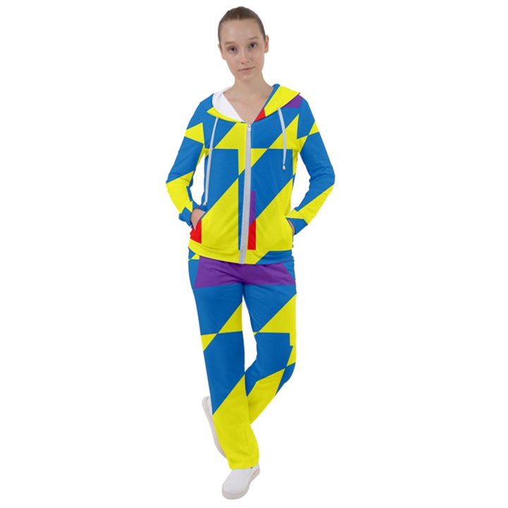 Colorful Red Yellow Blue Purple Women s Tracksuit