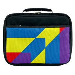 Colorful Red Yellow Blue Purple Lunch Bag